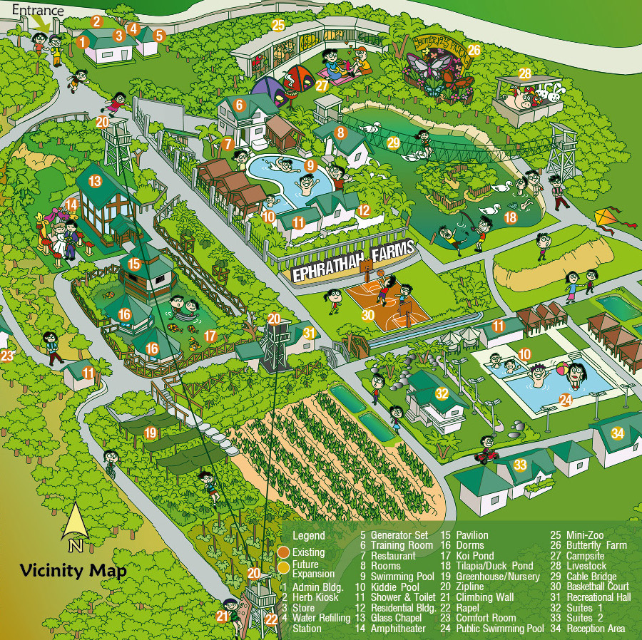 Ephrathah Farms Recreation Map